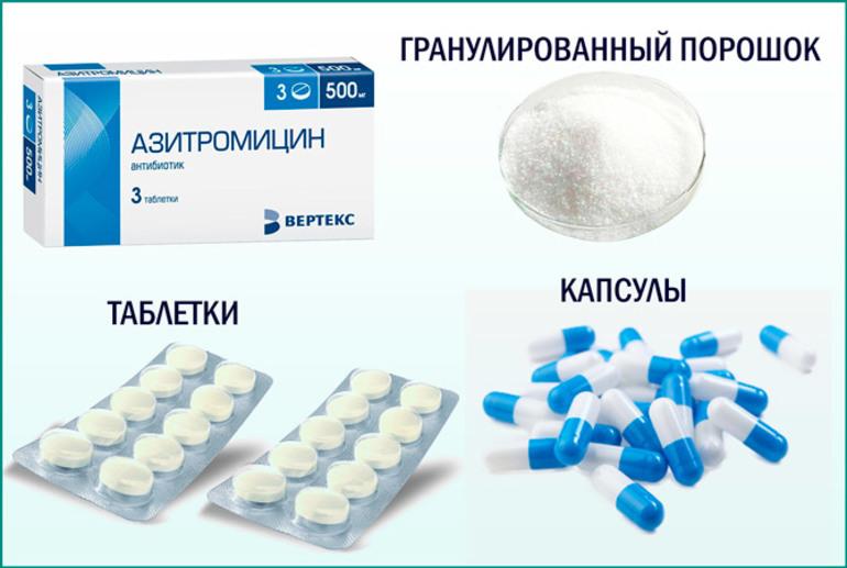 Форма выпуска препарата Азитромицин