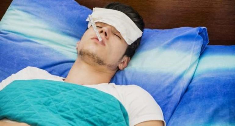 Высокая температура тела, озноба и боли в члене.