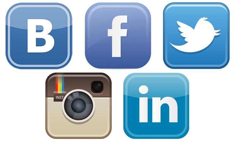 Открытка вертикальная, соцсети картинки логотипов