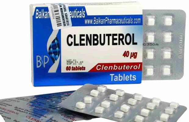 Распечатанная упаковка таблеток Кленбутерола
