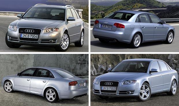 автомобиль Audi A4 третьего поколения 2004 год