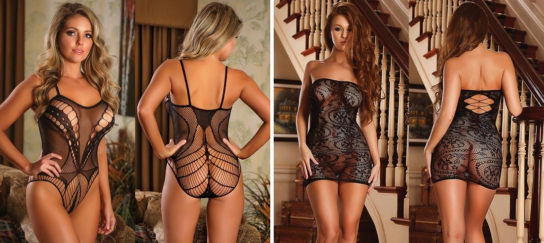 Вариант комплекта нижнего белья на фееричной девушке: нежные трусики с ажурными вставками
