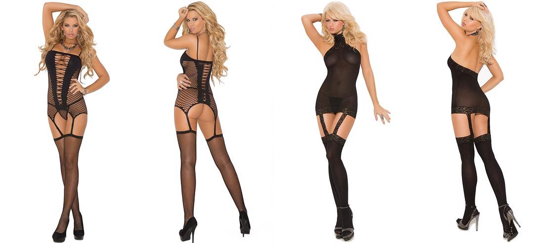 Девушка в бесподобном сексуальном черном нижнем белье, комплект с оригинальными трусиками