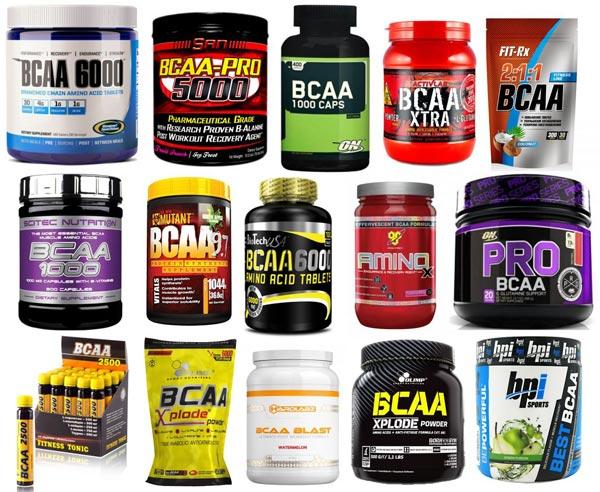 Упаковки с аминокислотами bcaa